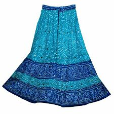 COTTON INDIAN ethnic falda boho Rock gypsy hippy kjol jupe SKIRT WOMEN EHS retro