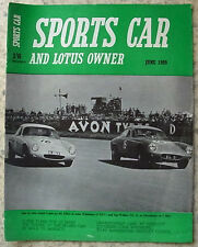 SPORTS CAR AND LOTUS OWNER Magazine June 1959 MGA Renault Floride LE MANS