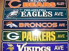 NEW NFL 4x24 Decorative Plastic Street Sign / Wall Sign - ALL TEAMS AVAILABLE!