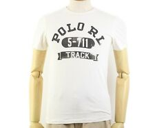 Polo Ralph Lauren Custom-fit Cotton Track T-shirt in Size XL in White
