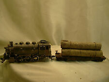 Riva Rossi Saddle Tank Logging Engine with 1 car - custom weathered, serviced-HO