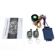 SPY 5000M LCD Motorcycle Alarm System Two Way Remote Start Microwave Sensor