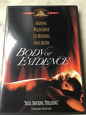 """SCARCE MADONNA """"BODY OF EVIDENCE"""" UNRATED & R-RATED DVD NO CD"""