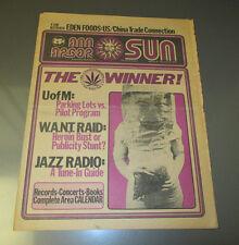 1975 ANN ARBOR SUN Underground Newspaper v.3 #3 VG+ Counter Culture Jazz Radio