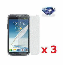 3 X Diamond Sparkling Glitter Screen Protector Samsung Galaxy Note 2 II N7100