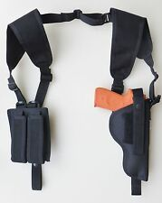 Vertical Shoulder Holster with Dbl Mag Pouch for BERETTA 92, 96 & M9