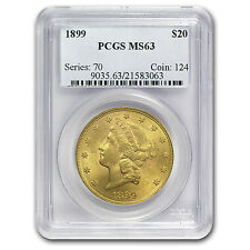 $20 Liberty Double Eagle Gold Coin - Random Year - MS-63 PCGS - SKU #73158