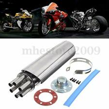 Motorcycle 304 Stainless Steel Rotating Gatling Exhaust Muffler Pipe Slip-on