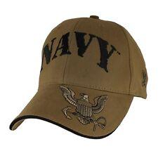 U.S. Navy Insignia Hat - USN Coyote Brown Baseball Cap 6653