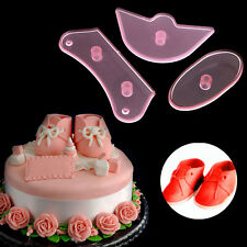 3x Baby Shoes Birthday Cake Decorating Mold Cutter Fondant Sugarcraft Tool