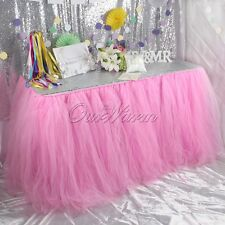 OurWarm PINK Tulle Tutu Table Skirt Wedding XMAS Party Christmas Decoration New