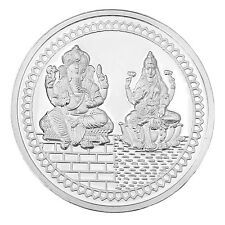 RSBL Shree Laxmi Ganesh Silver Coin of 50 Grams in 999 Purity- LG 50 Gms