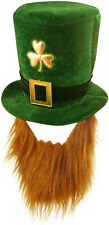 ST PATRICK'S DAY IRELAND WITH GINGER BEARD HAT FANCY DRESS IRISH LEPRECHAUN