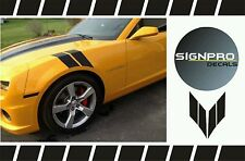 Chevy Camaro 2010-2016 Fender Side Hash Marks Lemans  Stripes  SS Bumblebee
