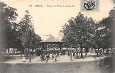CPA 75 PARIS XIXe PLACE DES FETES A BELLEVILLE (affranchissement spécial XIX  ra