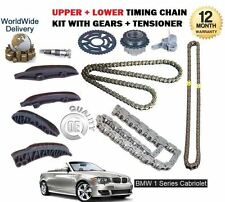 FOR BMW 1 SERIES CABRIO 118D 120D 123D 2008-> UPPER + LOWER TIMING CHAIN KIT SET