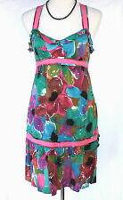 DKNY Jeans Donna Karen NY Multi-Color Floral Sundress - Small, Babydoll, Pink