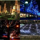 60 100 LED Strip Solar Powered Fairy String Xmas Lights Garden Outdoor 8M/12M