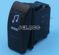 CARLING STYLE MUSIC ROCKER SWITCH BLUE LED 4X4 4WD 12 Volt SWITCH