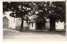 RPPC real photo postcar Church somewhere shadows America Architecture absract