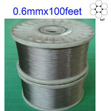 0.6mm 1x7 Stainless Steel Cable Wire Rope (100feet )