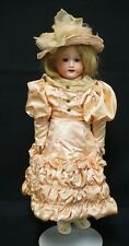 23 INCH MORIMURA BROS JAPAN BISQUE HEAD DOLL, OILCLOTH BODY W/BISQUE... Lot 6066
