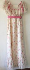 Vintage 70s Trivia by Charm of Hollywood Floral Maxi Wedding Bridesmaid Dress