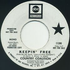 "COUNTRY COALITION Keepin' Free mono/stereo 7"" 1970 ABC EX"