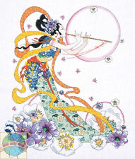 Cross Stitch Kit ~ Design Works Flute Player Geisha Japanese Lady Kimono #DW2748