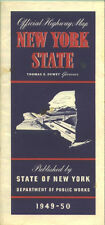 1949-50 New York State-issued Vintage Road Map