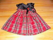 Toddler Size 4T Youngland Christmas Holiday Dress Red Black Plaid EUC