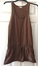Abercrombie & Fitch Girl's Tank Top Size XL Moose Logo Rhinestones Brown Tunic