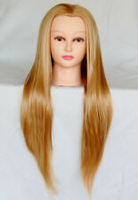 "(USA)  30"" Cosmetology Mannequin Synthetic Hair Human Head Standard Size Kelly e"
