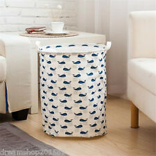 Whale Waterproof Foldable Linen Washing Clothes Laundry Hamper Storage Basket