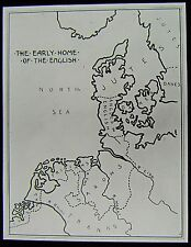 Glass Magic Lantern Slide THE EARLY HOME OF THE ENGLISH - MAP C1910 DRAWING