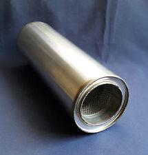 """89 mm foro (3 1/2 """") 5"""" Round X 20 """"LONG Universale in Acciaio Inox Silenziatore di scarico"""