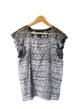 Designer Isabel Marant Siver Lace Size 2 (8 to 10 AU) Worn Once Womens Top