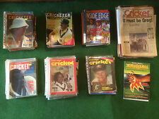 BULK LOT CRICKET - 71 BOOKS,150 MAGAZIINES,100 COLLECTOR CARDS P/up PRESTON 3072