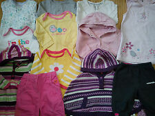 HUGE BRANDS MCKENZIE MOTHERCARE M&S 12x bundle baby girl clothes 6/9/12 mths 1.6