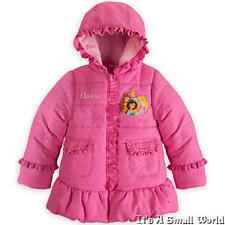 Disney Store Disney Princess Appliqued Pink Puffy Jacket for Girls Size 2 3 NWT