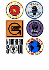 NORTHERN SOUL STICKERS  4 WIGAN CASINO MODS TORCH  STAX MOTOWN KEEP THE FAITH