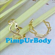 Gold Heart Toe Ring,  Fully Adjustable, Size Around H-M