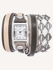 Reykjavik Chain WRAP WATCH by La Mer Collections WOMENS LEATHER Bracelet - Boxed