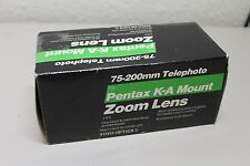75-200mm Telephoto Lens Pentax K-A Mount Zoom Lens NIB New old stock f/4.5
