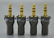 "10P Pailiccs Gold 3.5mm 1/8"" Stereo Male Plug Metal Bevel Face Audio Connectors"