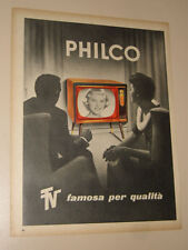 PHILCO TV TELEVISORE=ANNI '50=PUBBLICITA=ADVERTISING=WERBUNG=472