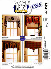 McCall's Sewing Pattern M5872 Valances Swag 5872 curtains Window Treatment