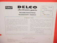 1957 1958 1959 DELCO GM TROUBLE-SHOOTING TRANSISTOR AUTO RADIOS SERVICE MANUAL