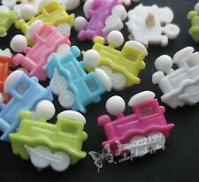 100x Train Head Plastic Button backhole DIY buttons sewing/appliques/craft NK023