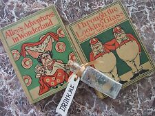 Alice in Wonderland Set, 1897~ by Lewis Carroll, Beautiful w/ Drink Me Bottle!